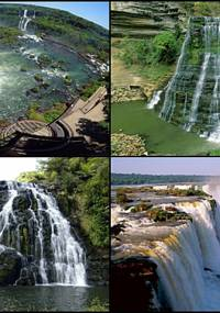 Wodospady z różnych części świata