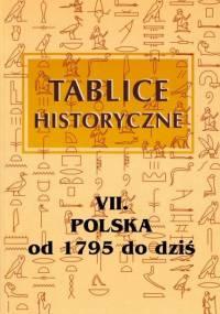 Tablice historyczne 7 - Polska od 1795 do dziś