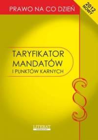 Taryfikator mandatów i punktów karnych 2012 - Kopońska Ewelina