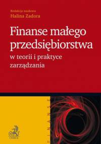 Finanse małego przedsiębiorstwa w teorii i praktyce zarządzania - Zadora Halina