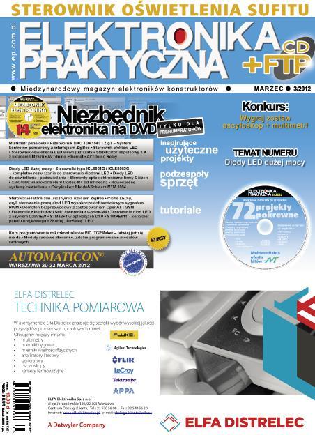 Elektronika Praktyczna 03/2012 CD+FTP