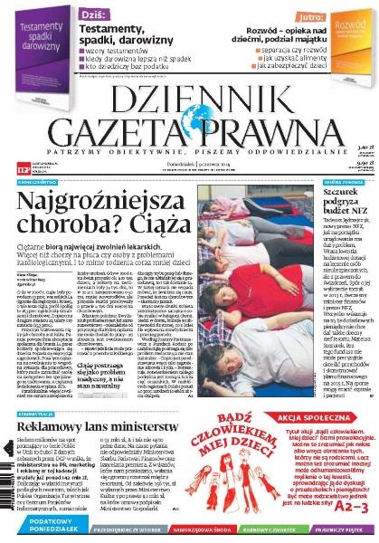 Dziennik Gazeta Prawna 09.06.2014