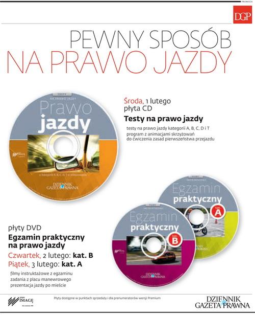 Testy na prawo jazdy oraz Egzamin praktyczny na prawo jazdy - Dziennik Gazeta Prawna