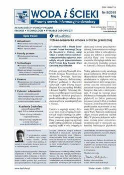 Woda i ścieki. Prawny serwis informacyjno-doradczy. Nr 5/2015 - Opracowanie zbiorowe