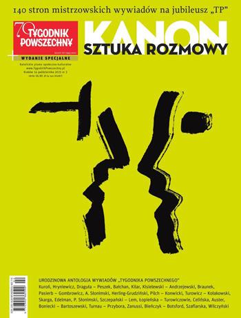 Opracowanie zbiorowe - KANON. Sztuka rozmowy - 140 stron mistrzowskich wywiadów na 70. lecie TP